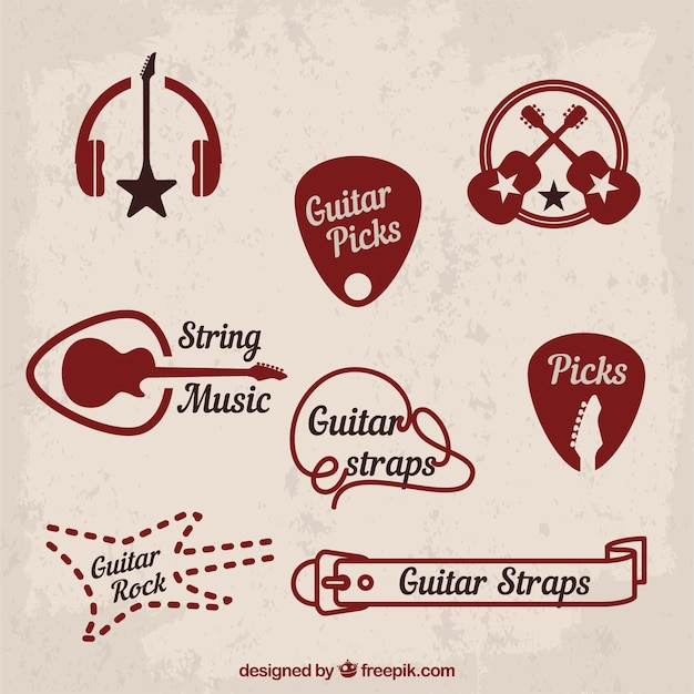 Music And Classic Rock Symbols Vector Free Download