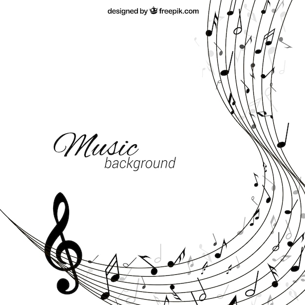 Music background in abstract style Premium Vector