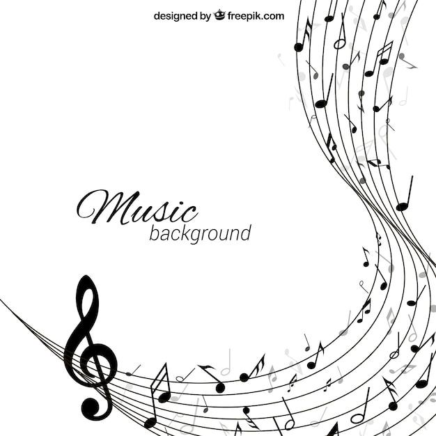 抽象的なスタイルでの音楽の背景 Premiumベクター