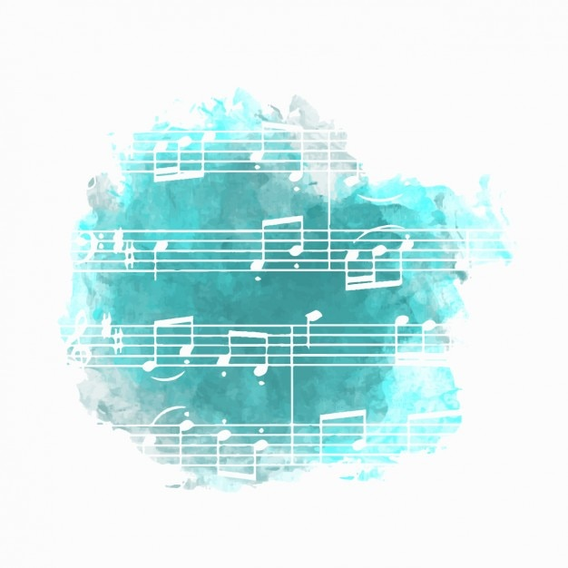 Music background in blue Vector Free Download