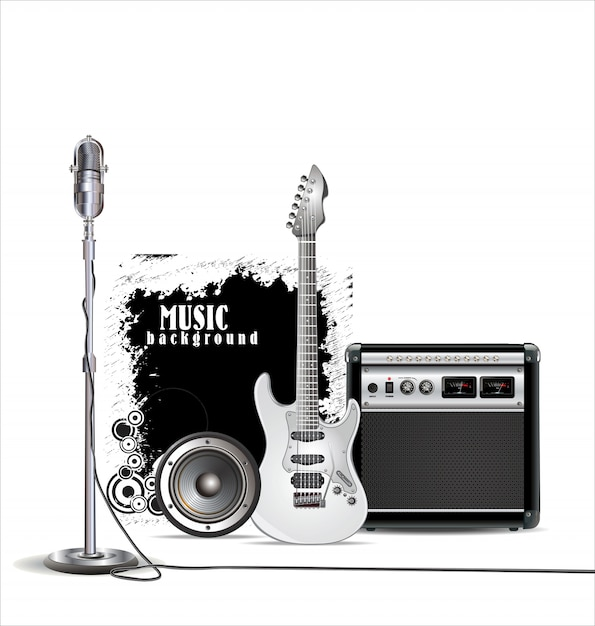 Music background Premium Vector