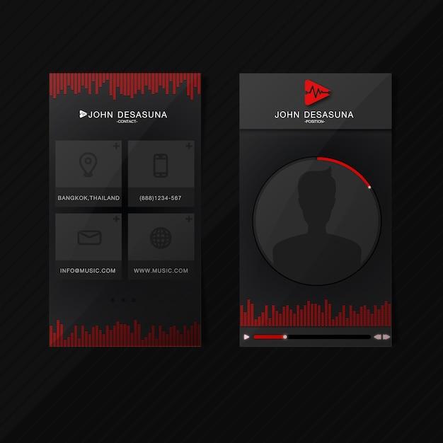 Music card Premium Vector