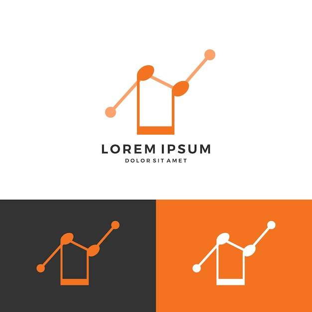 Music Chart Statistic Notes Logo Vector  Premium Download