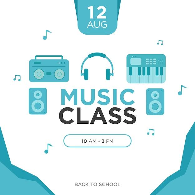 Music class poster Premium Vector