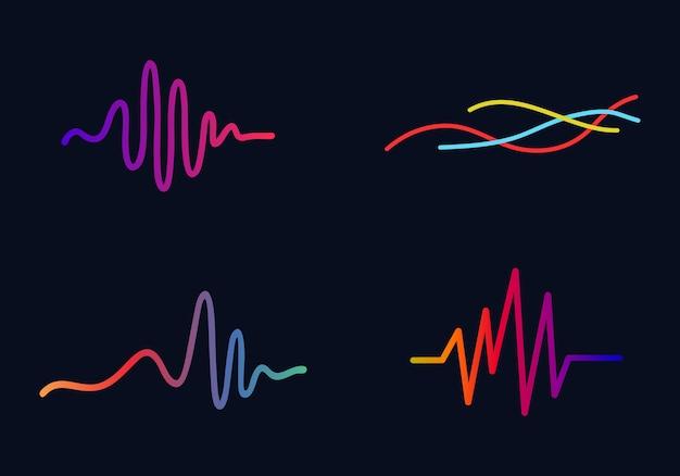music concept audio wave audio technology business symbol vector