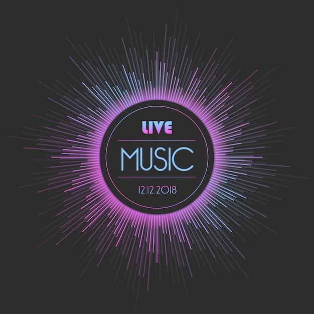 Music concert poster Premium Vector