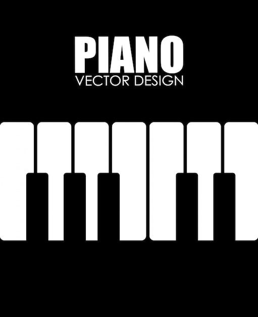 Illustrazione di musica design nero Vettore gratuito