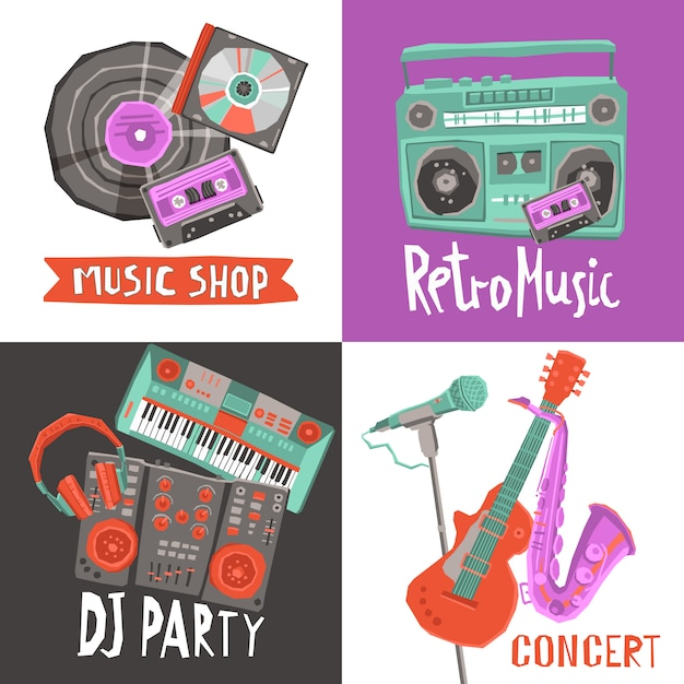 Music design concept Premium Vector