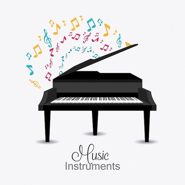 Music digital design. Premium Vector