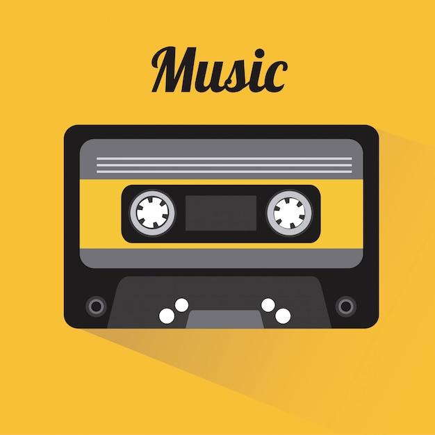 Music elements with flat desiign vector illustration Premium Vector
