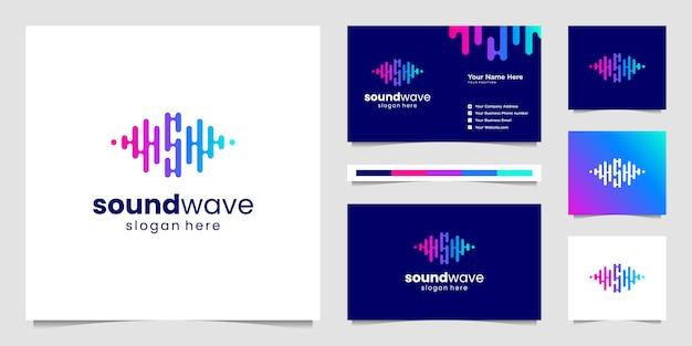 Music equalizer logo. Premium Vector