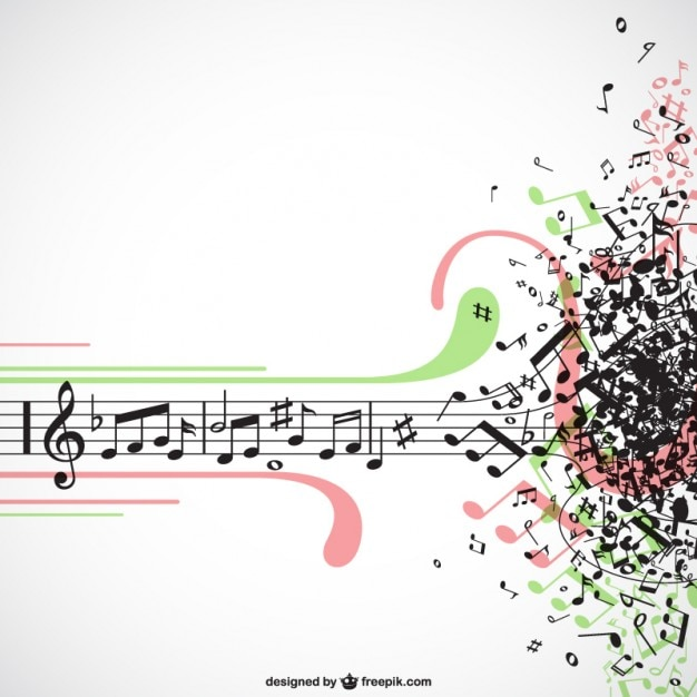 Music explosion Free Vector