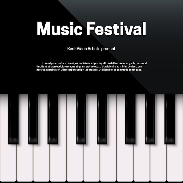 Music festival poster template with text space Premium Vector