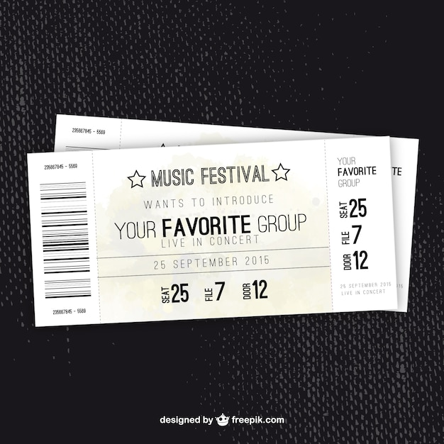 Concert Ticket Template. RetroConcertTicketTemplate Concert Ticket ...