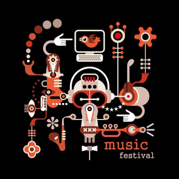 Music festival Premium Vector