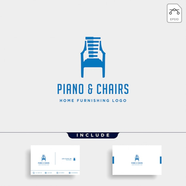 Music furniture logo design Premium Vector