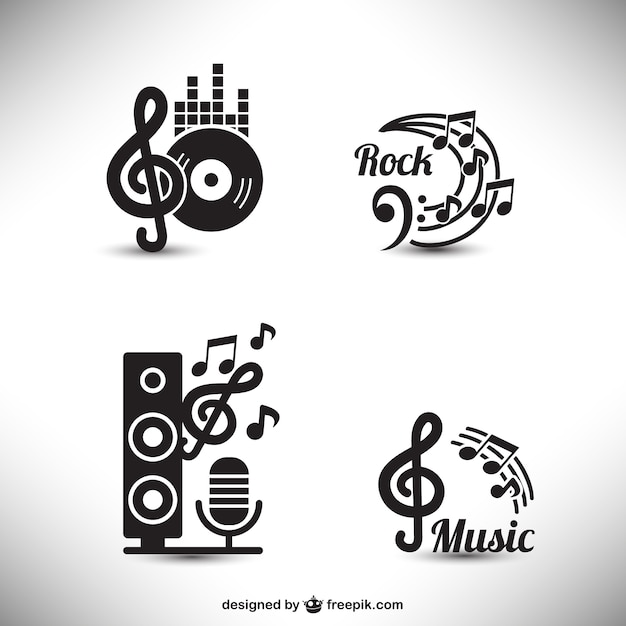 Music graphic elements Free Vector