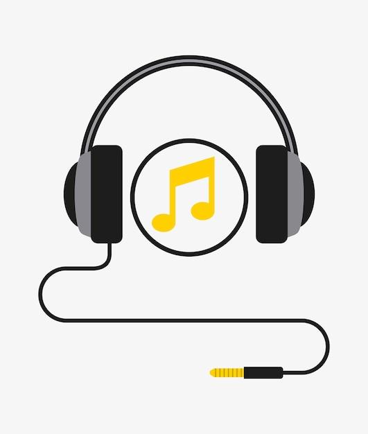 Music headset Premium Vector