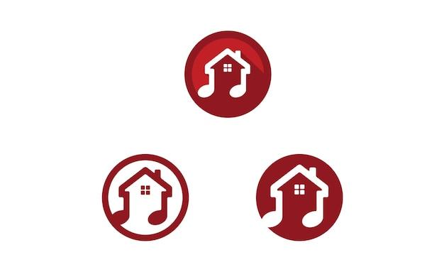 Music house icon / дизайн логотипа Premium векторы