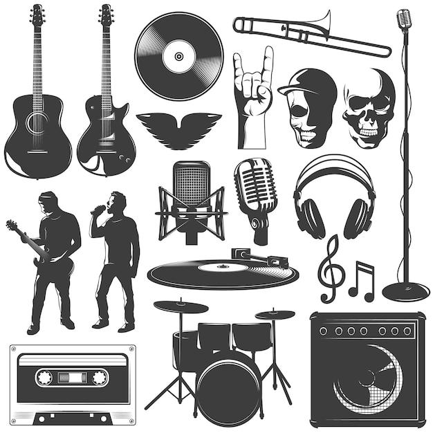 Music icon set Free Vector
