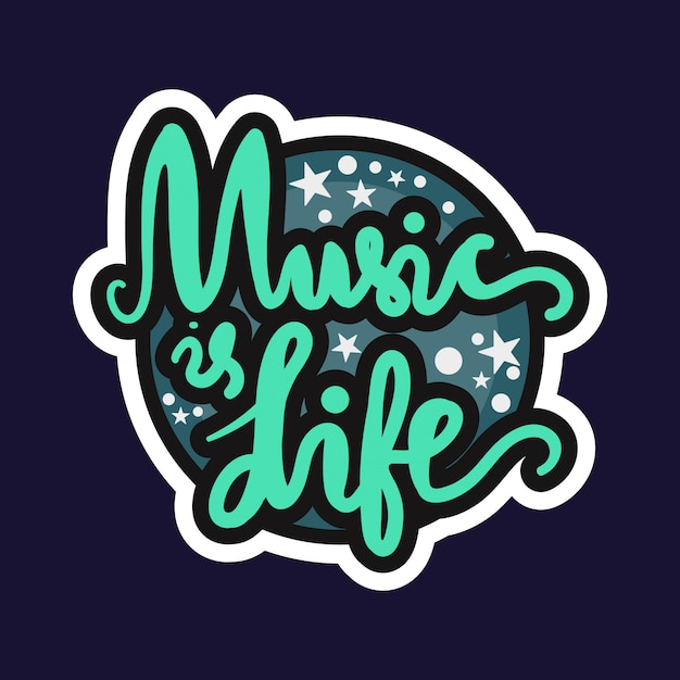 Music is life Premium Vector