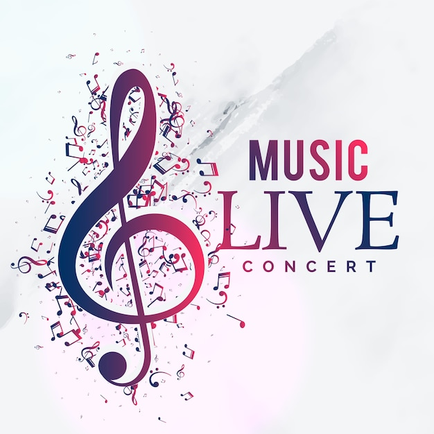 Music Live Concert Poster Flyer Template Design Vector Free Download
