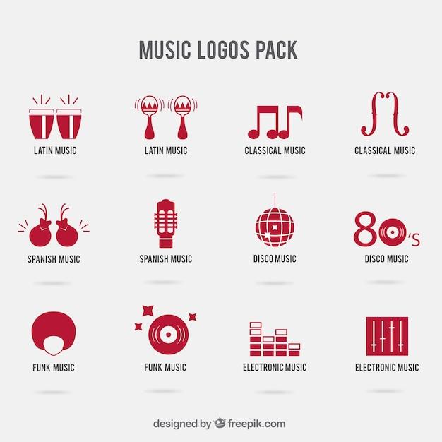 Music logos pack Vector | Free Download