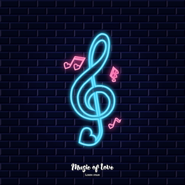 Music of love Premium Vector