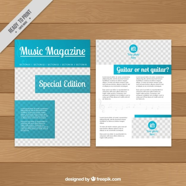 music magazine template vector free download