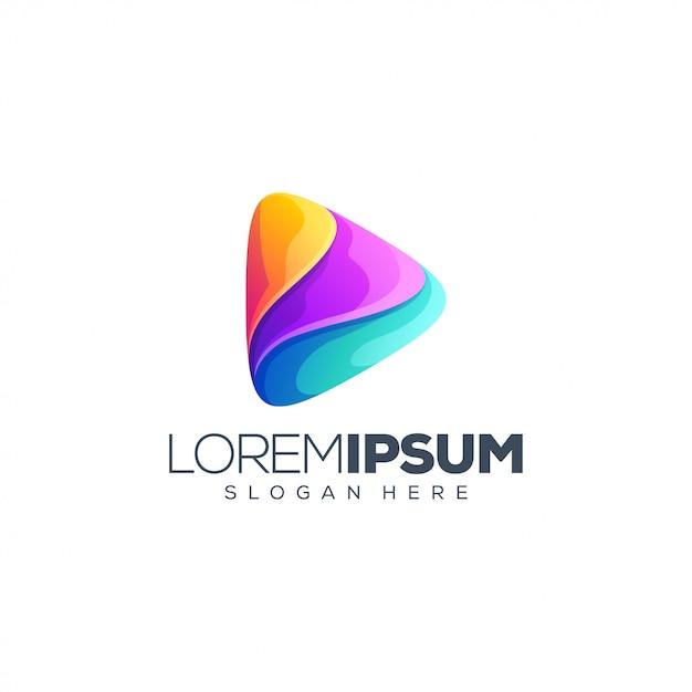 Music media logo design Premium Vector