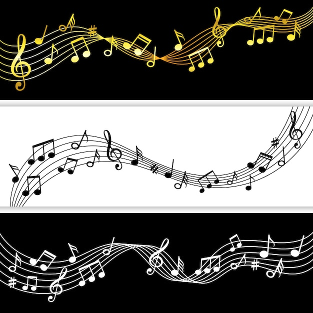 Music Notes Flow Doodle Music Note Drawing Sheet Patterns