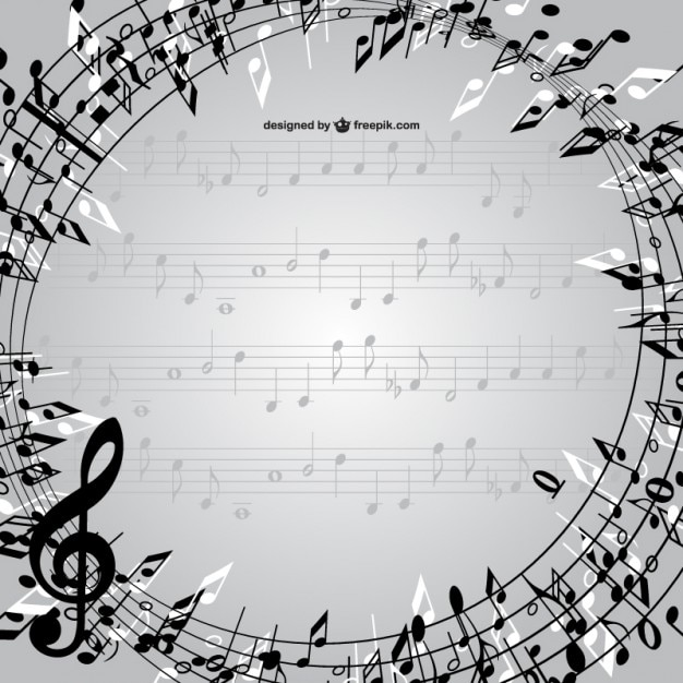 music notes frame vector free vector - Music Note Picture Frame