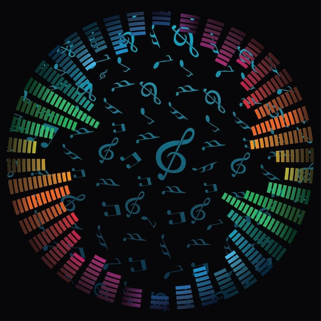 Music notes vector background vector free download music notes vector background free vector voltagebd Image collections