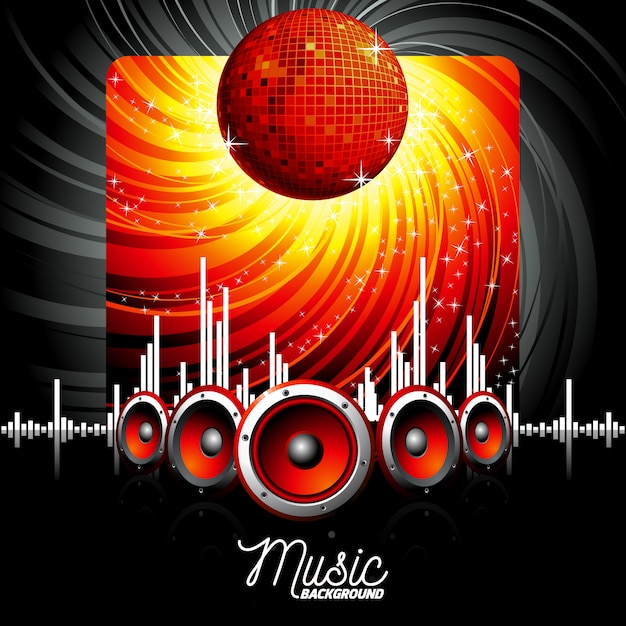 Music party background Vector | Free Download