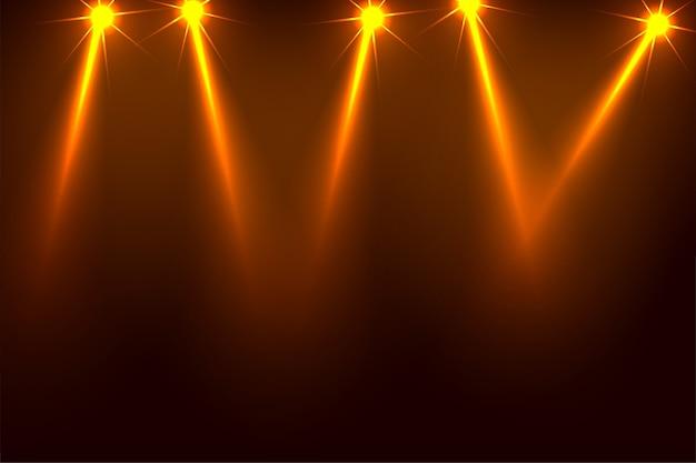 Music party focus spotlight background design Free Vector