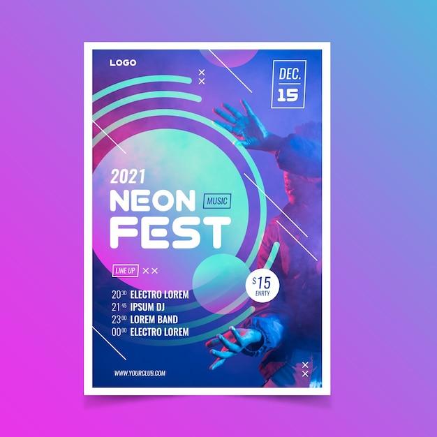 Музыкальный плакат на 2021 год Бесплатные векторы
