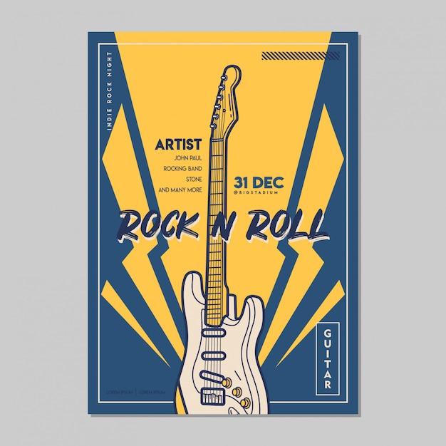 Music poster template Premium Vector