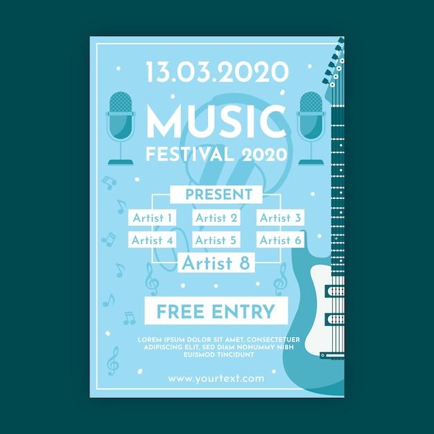 Музыкальный плакат Бесплатные векторы