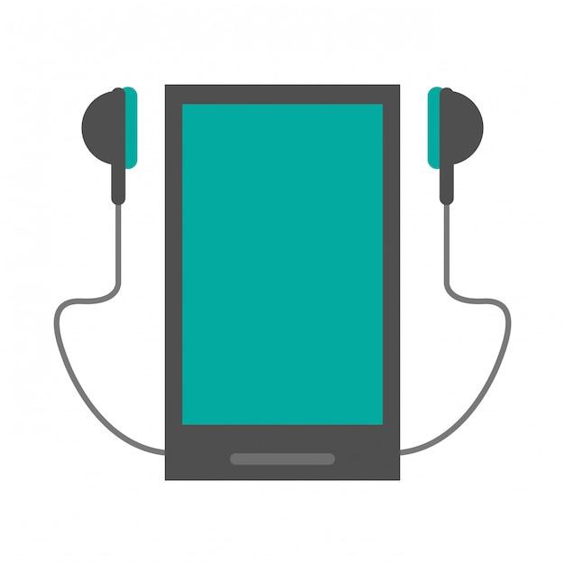 Music and smartphone Premium Vector