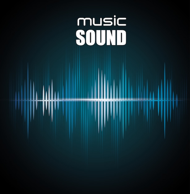 Music sound background  design Free Vector