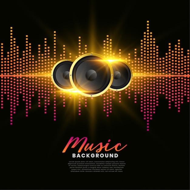Афиша обложки альбома музыкальных колонок Бесплатные векторы