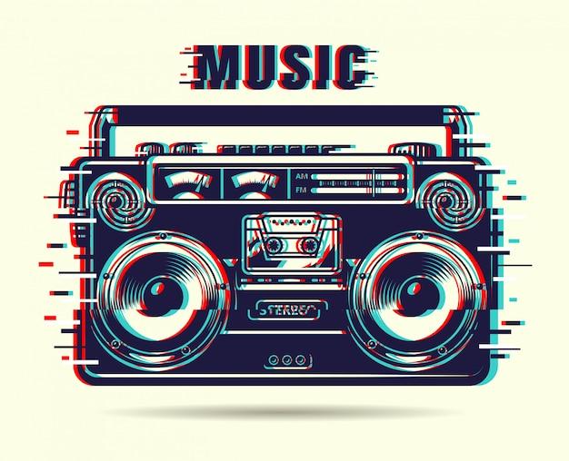 Музыкальный магнитофон Бесплатные векторы