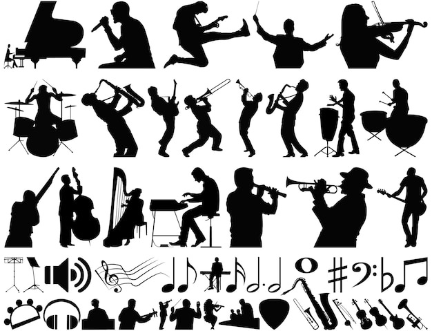 Music vector collection Premium Vector