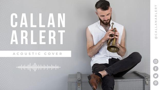 Cover youtube musicale con foto Vettore gratuito