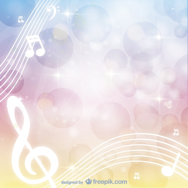 Musical background vector Free Vector