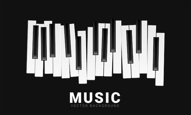 Sottofondo musicale con i tasti del pianoforte Vettore gratuito