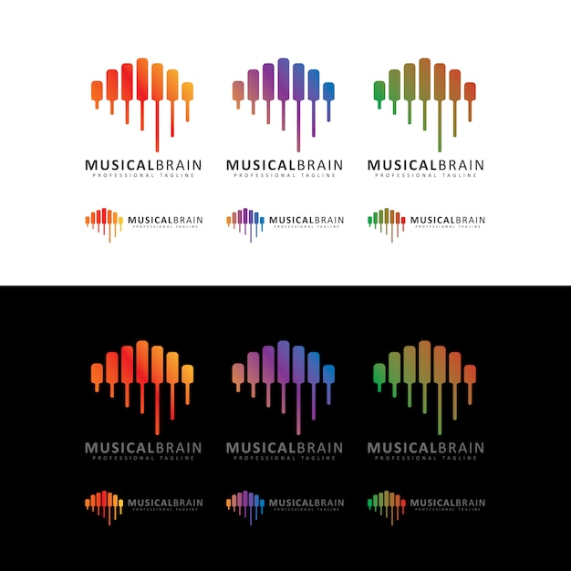 Musical-brain-logo Premium Vector