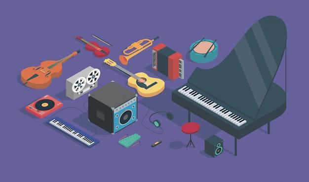 楽器イラスト Premiumベクター