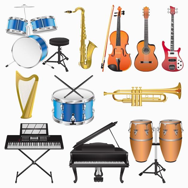 Musical instruments Premium Vector