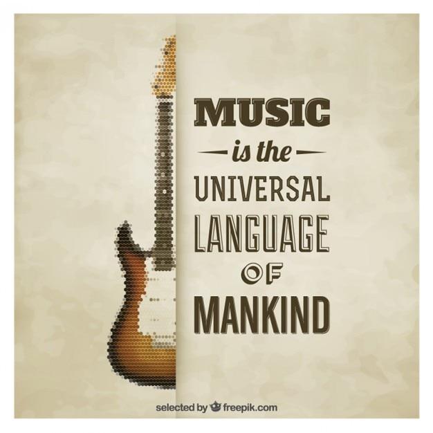 Quote musical poster Vettore gratuito